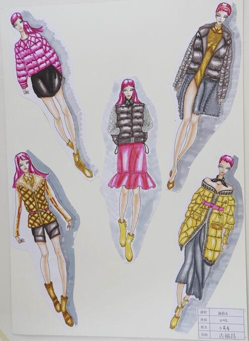 香港服裝學院廣東時尚學院學員設計作品